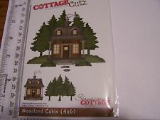 COTTAGE CUTZ AUTUMN FALL FOREST WOODLAND CABIN PINE TREES SCENE METAL DIE