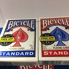 12 Decks of BICYCLE Standard Face Poker Playing Cards 6 Red / 6 Blue NIB