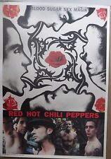 MUSIC POSTER~Red Hot Chili Peppers 1991 Blood,Sugar,Sex,Magik NOS Original Album