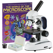 40X-1000X Student Kids Metal Frame Glass Optics Biological Compound Microscope w