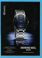 BELLEU001-PUBBLICITA'/ADVERTISING-2001- RAYMOND WEIL - OTHELLO