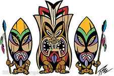 3 Tikis Sticker Decal Low Brow Artist The Pizz P30