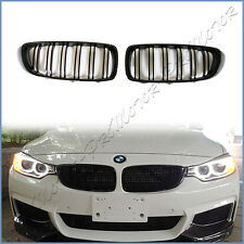 Pair Set For 2014+ F32 F33 420i 428i 435i Front Replaced Grille M Look Jet Black