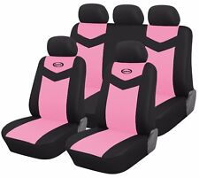 Synterior Brand, Synthetic Leather-Like Car Seat Covers Pink