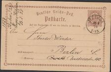 HOLSTEIN  LETTER ITZEHOE DESTINATION BERLIN YEAR 1874