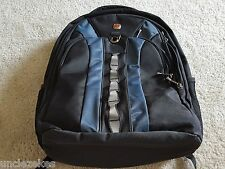 Wenger Swiss Army Gear Black Blue Backpack Shock Absorbing Laptop Bag