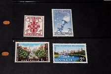 AUSTRALIA 1956 MELBOURNE OLYMPIC GAMES SET OF 4 VERY FINE M/N/H