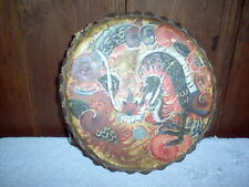 ANTIQUE AUTHENTIC CHINESE SHOW DRUM HAND PAINTED