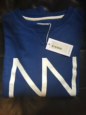 Saturdays Surf NYC Bowery Stacked Ink Blue XL BRAND NEW with Tag