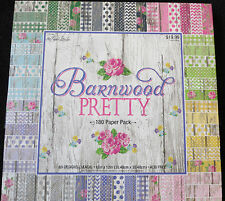 "Barnwood Pretty 12""x12"" Scrapbook Paper Pack by The Paper Studio **180 Pages**"