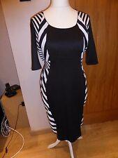Rinascimento dress size 50 black and white