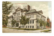 3 Postcards,Peoria,Ill.,1907-10,Lincoln School,Randolph Ave.,Court House
