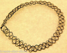 hot Vintage Stretch Tattoo Choker Necklace Retro Gothic Punk Elastic 80s 90s new