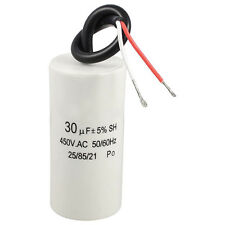 2-Wired Cord 30uF 450VAC 50/60Hz CBB60 Motor Start Run Capacitor CT