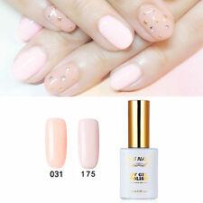 2 PIECES RS 031_175 Gel Nail Polish UV LED Varnish Soak Off 0.5oz Silver Pink