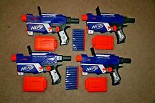 Nerf N-Strike Retaliator Lot 4 Party Pack Blaster Dart Gun Toy Blue HTF TESTED