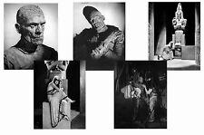 THE MUMMY - BORIS KARLOFF  - SET OF 5 - A4 PHOTO PRINTS