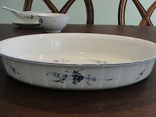 "VILLEROY BOCH VIEUX LUXEMBOURG OVAL BAKER 13 7/8"" BY 2 1/2"""