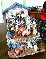 Christmas Lighted Musical Nativity Manger Scene Silent Night Home Decor