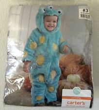 Carters 3 Eyed Mini Monster Halloween Costume 12-18 Mos Snap Crotch Snuggly