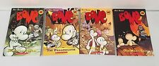 Bone by Jeff Smith Lot 4 PB Books G/VG Graphic Novels Out From Boneville Old Man