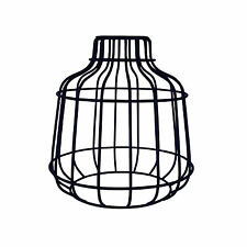 Retro Industrial Black Metal Wire Frame Ceiling Light Pendant Shade