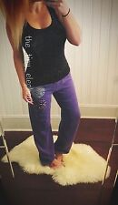 Victoria Secret Pink Leopard Cheetah Sweatpants Sweats Tank Set Zebra Purple VS