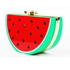 NEW A LOVELY SLICE OF WATERMELON SHAPED CLUTCH EVENING BAG
