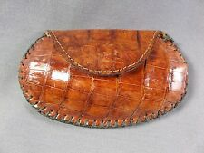 New Handmade Genuine Brown Alligator/Crocodile Skin coin  bag 1