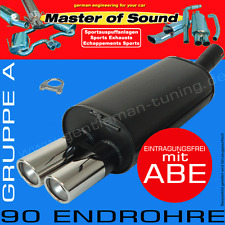 MASTER OF SOUND SPORTAUSPUFF OPEL ZAFIRA A TURBO + OPC 2.0L 16V T OPC