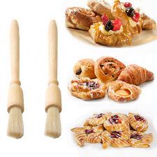 2 * Vidrios De Madera pastelería Cepillo Hornear rociando el polvo de cocción de herramienta de mano Pasty