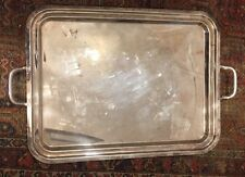 HOTEL SILVER HOLLOWARE EXTRA LARGE HANDLED WAITER SERVICE TRAY (s) TWO AVAILABLE