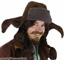 THE HOBBIT BOFUR HAT Dwarf Laplander Brown LOTR Costume Hunter LICENSED NEW