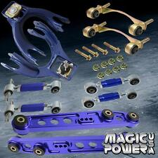 Blue Front & Rear Camber Lower Control Arm Bushing Toe Arm Kit 92-95 Civic EG