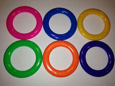 15 - Carnival Cane Rack Rings - Toss Soda Liquor School Party Ring Plastic Throw