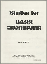 Studies for Bass Trombone Grades 6-8 ABRSM Sheet Music