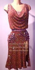 L3888 ballroom Rhythm salsa Latin samba swing dance dress US 8 sleeve