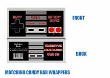 Video Game Candy bar wrappers, Party Supplies, Birthday, Gamer Party