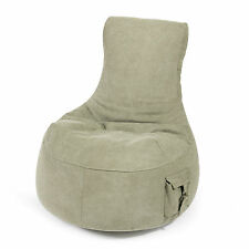 PUSHBAG Sitzsack Seat Pocket Canvas stonewashed oliv