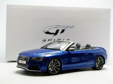 GT Spirit 2014 Audi RS5 Cabriolet Blue in 1/18 Scale LE of 504. New! In Stock!
