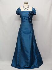 Cherlone Plus Size Blue Long Ballgown Wedding Evening Bridesmaid Formal Dress 20