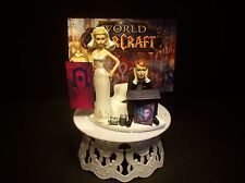 GAMER Bride & Groom WOW Horde Funny Wedding CAKE TOPPER Groom's Cake