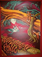 WIDESPREAD PANIC POSTER JAMES FLAMES RALEIGH NC PRINT RED HAT SPERRY LADY GIG