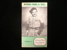 1953 Baseball Guide & Schedule Booklet – Chemical Bank & Trust Co.