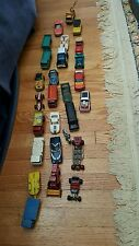 Matchbox car lot of 25 from the 1970's and 80's in used condition, see pictures