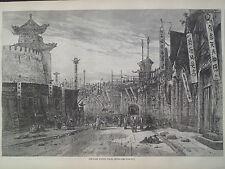 Peking China Circular Street 1866 Antique Print Harper's Weekly