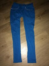 Stacey B Stretch Skinny BlueTrousers Gem Detail Size 8