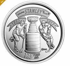 2017 Canada 125th Anniversary of Stanley Cup 25-cent Circulation Coin UNC