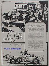 PUBLICITE AUTOMOBILE LA SALLE VOITURE DE VILLE SPORT POLO DE 1927 FRENCH AD CAR