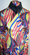 BRIGHT MACAW PARROT FEATHERS PRINT POLYESTER LYCRA STRETCH  FABRIC 1 YD 18 IN